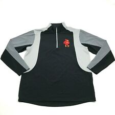 Antigua Iowa State CYCLONES Dry Fit Polo Size Large L 1/4 Zip Shirt Performance