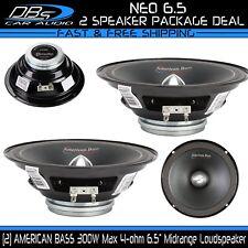 2 American Bass NEO 6.5 Midrange Loud Speaker 600W 4-ohm Car Audio Mid 1 Pair