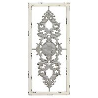 White and Grey Scroll Panel Hanging Interior Wall Art Home Decor