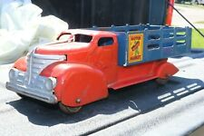 """Marx """"Motor Market Delivery"""" Grocery Stake Truck - Pressed Steel - 1939"""