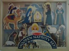 NIB MELISSA AND DOUG WOODEN NATIVITY SET