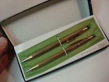 Vintage Cross 12Kt Gold Filled Pen/Pencil Set General Electric Gold -Both Work