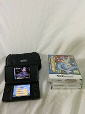 Nintendo Ds Lite. Black, Tested Working. Nice Condition, No Charger With 4 Games