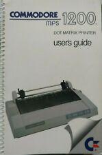 Commodore MPS 803 Original Handbuch Users Manual (englisch) (C64)