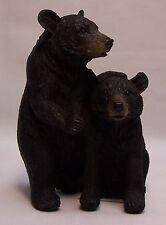 Black Bear Couple B Figurine Rustic Home/Cabin Decor (NAD)