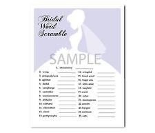 Set of 5 Light Purple Bridal Wedding Shower Printable Party Games