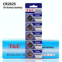 15~25 PCS CR2025 3V Alkaline Cell Coin Button Batteries Power CR 2025 Battery