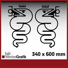Aufkleber /  Sticker / Seitenbeschriftung / Dekor / Alfa Romeo Schlange / #042