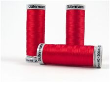 Gutermann Sulky Rayon 40 Embroidery Thread 1039 Red 200m Spool X 5 Box61 71 J