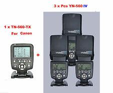 Yongnuo YN560-TX/C  Wireless Flash Controller for Canon + 3 Pcs YN-560IV Flash