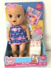 Hasbro Baby Alive Sips 'n Cuddles Doll Nautical Whale Dress New