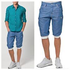 Mens Voi Jeans MAEBASHI Soft Denim Shorts Size 32 Summer Holiday Cuff Knee