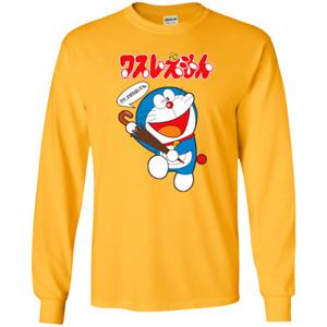 Doraemon, Anime, Japanese Cute Cat, Funny G240 Gildan Long Sleeve T-Shirt