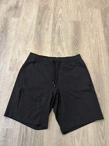 "Lululemon Men's Size Large City Sweat Shorts Black Stretch 9"" Inseam"