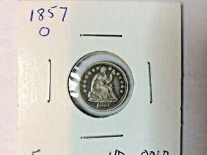 1857-O Seated Half Dime 5¢