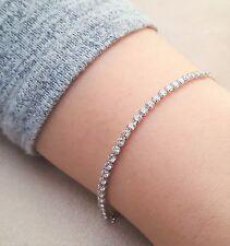 SALE -Platinum Plated Tennis Bracelet Bangle - Womens Fashion Jewellery - GIFT
