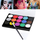 15 Colors Face Body Paint Oil Painting Art Make Up Halloween Party Brushes Set
