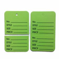 200 Green large Clothing Price Label perforated Price Coupon jewelry Display Tag