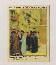 CHROMO Image CHOCOLAT PUPIER serie l'Asie PALESTINE MUR DES LAMENTATIONS