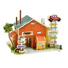 3D Jigsaw Wood Miniature 1/24 Diy Doll House Kits - American Motel Model