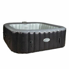 CleverSpa 8120 Corona 73in 6 Person Inflatable Hot Tub Spa w/ Cleverlink App