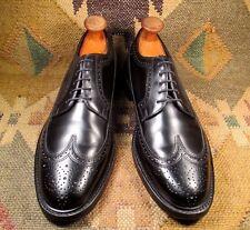 Florsheim KENMOOR Black Smooth Calfskin  Leather Wingtips size USA -9.5 E