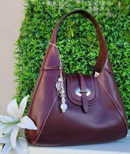 Dooney & Bourke Florentine leather toscana Front Stitch Hobo Shoulder Bag purse