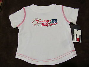 NWT Tommy Hilfiger White Distressed Baseball Shirt 6-12 mo OR 12-18 mo OR 18-24