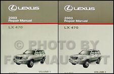 2003 Lexus LX 470 Repair Shop Manual NEW Original Set LX470 OEM Service 2 Volume