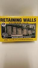 Woodland Scenics Retaining Walls #1159 - N Scale Cut Stone (6 walls) - New