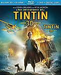 The Adventures of Tintin (3D Blu-ray/DVD/Digital Copy 2012) NEW/SEALED