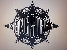 """Gang Starr Logo Vinyl Decal Sticker 5.5"""" X 6"""" Each"""