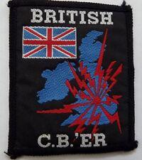 BRITISH C.B.er Vintage 1980`s Woven Sew On Patch CB