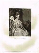 "Mezzotint Eng. Proof - ""MISS POLLY KENNEDY"" - by S. W. Reynolds - c1820"