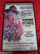 "MINT-FRAMED 1993 SIGNED Window Card  ""WILL ROGERS FOLLIES"" Starring MAC DAVIS"
