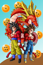 Dragon Ball GT Poster Goku SSJ4 Vegeta SSJ4 12in x 18in Free Shipping
