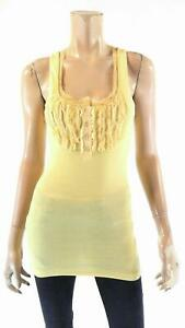 Sweet Color Frayed Satin Sheer Henley Womens size L Shirt Top Button Front Tee