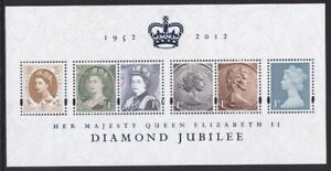 GB 2012 QUEENS SILVER JUBILEE ROYALTY STAMP ON STAMP M/SHEET MNH
