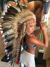 War Bonnet,Indian headdress,Coiffe indienne,Pocahontas, original Truthahnfedern