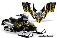 Sled Graphics Kit Decal Sticker Wrap For Polaris Switchback 2006-2010 MOTOHD BLK
