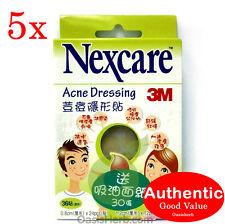 5X Nexcare Acne Dressing Pimple stickers 36 pcs 24 x 0.8cm & 12 x 1.2cm-3M New!