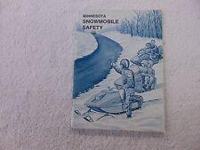 Minnesota Snowmobile Safety Manual- EARLY 1970'S POLARIS
