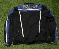 Men's Triumph Motorcycle Jacket (Back Spellout) With Pads Size 48/58 Large