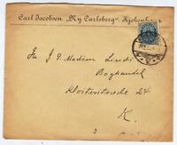 DENMARK OLD LETTER  4 ORE  USED KJOBENHAVN k.V.b  year 1901