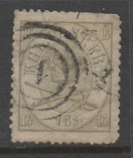 More details for denmark - 1864, 16sk olive-green or grey-green stamp - used - sg 30 or 30a