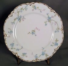 Haviland Luncheon Plate - Blue Forget-Me-Nots Gold Edge S441A