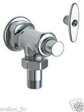 """NEW Chicago Faucets 698-CP Angle Stop Fitting w/ Loose Key - 1/2"""" NPT NEW / NIB"""