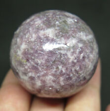 39mm 3.2OZ Natural Pink Tourmaline Lepidolite Crystal Sphere Ball