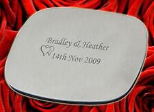 25 Personalised  Steel Coasters wedding favours