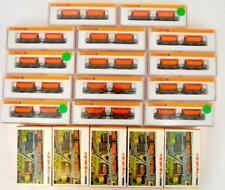 14 Arnold Rapido N scale 4480 sets of ore cars w/ five 0825 bags of coal Lot 841